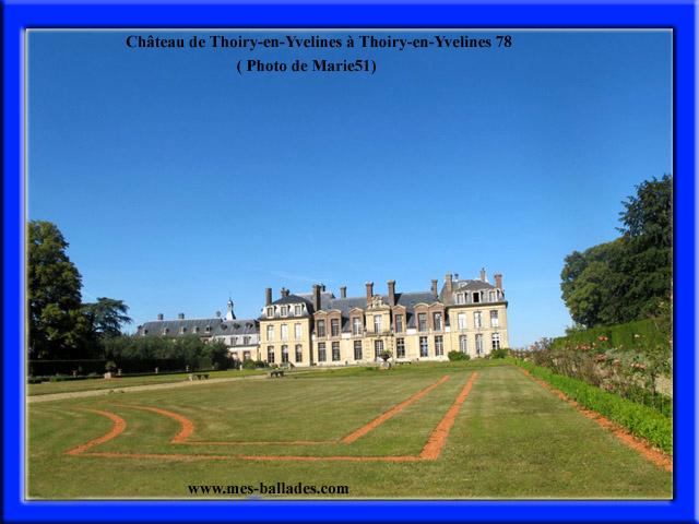 le chateau de thoiry en yvelines 78770
