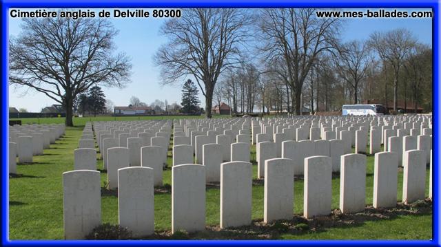 LE CIMETIERE ANGLAIS DU BOIS DE DELVILLE A LONGUEVAL DANS LA SOMME 80300 # Bois De Chauffage Somme Particulier