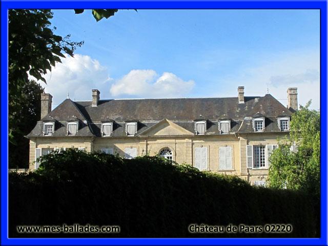 le village et le chateau de paars dans l 39 aisne 02220. Black Bedroom Furniture Sets. Home Design Ideas