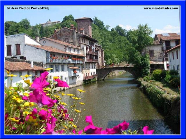 Le village medieval de saint jean pied de port 64220 - Les pyrenees saint jean pied de port ...